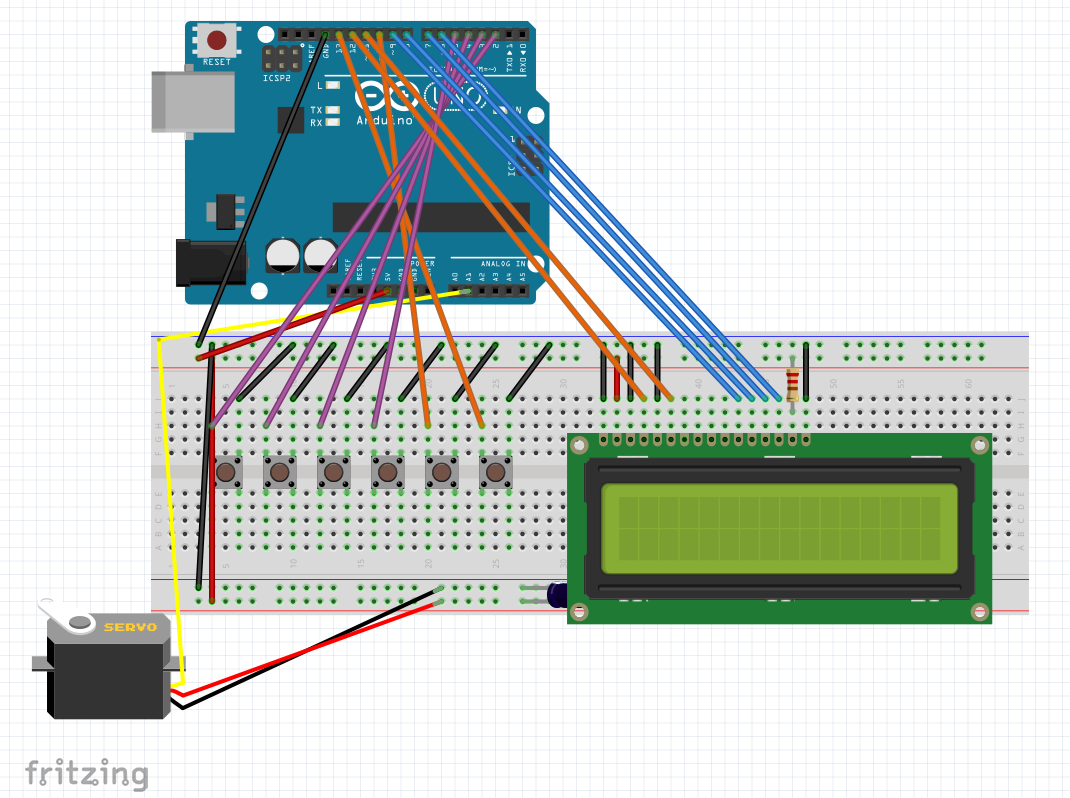 Electronic Safe With Arduino Circuit Schematic Keypad Combination Lock Diagram