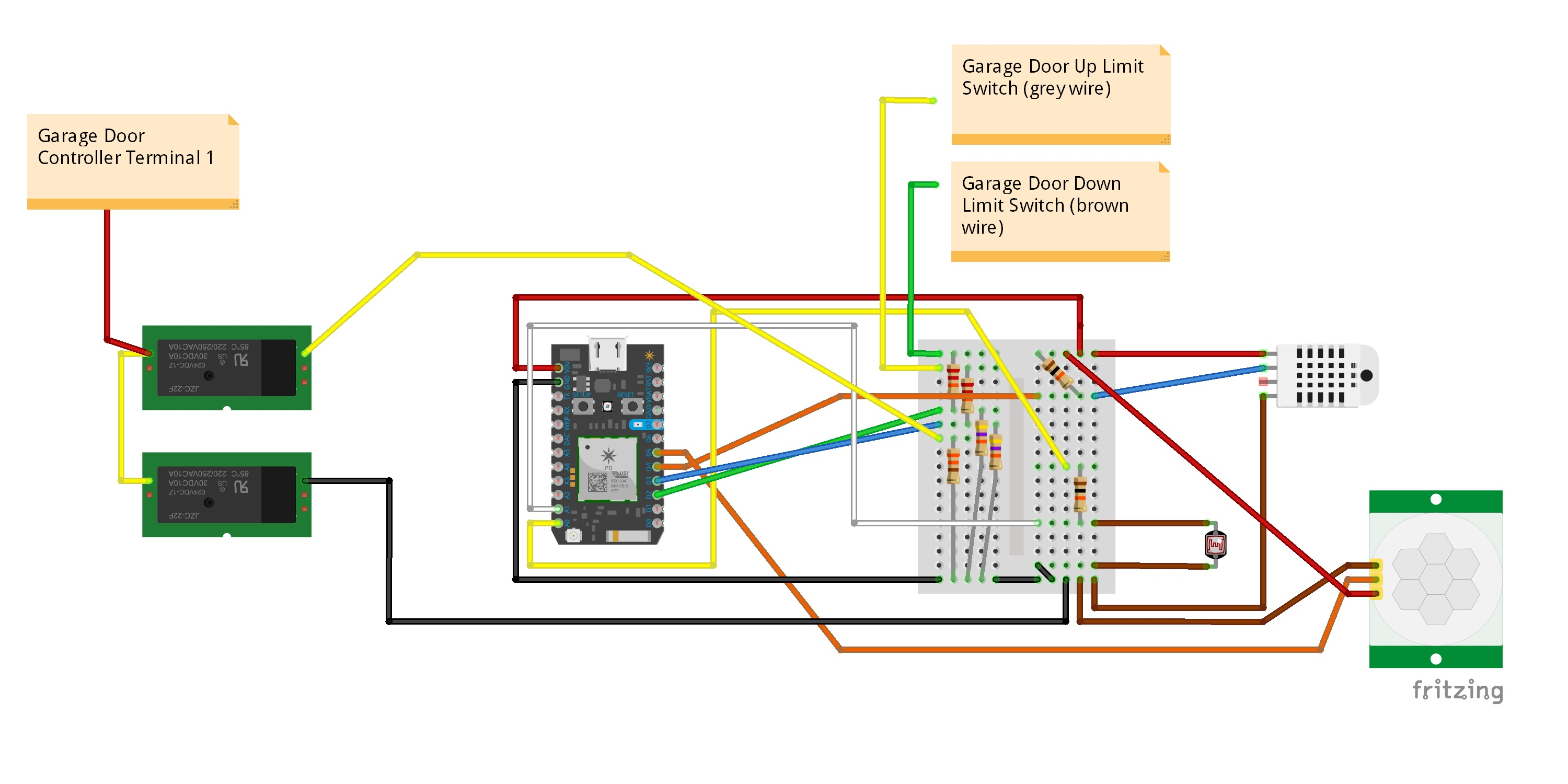 Garage Monitoring And Door Light Control Wiring Diagram For Safety Garage20monitor Bb