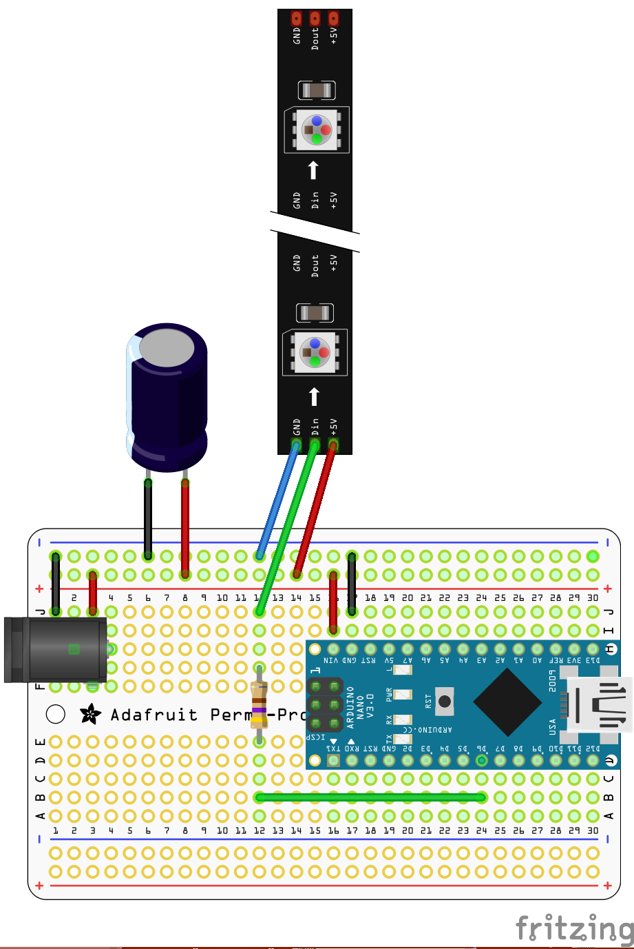 Arduino compatible nano neopixel controller hackster