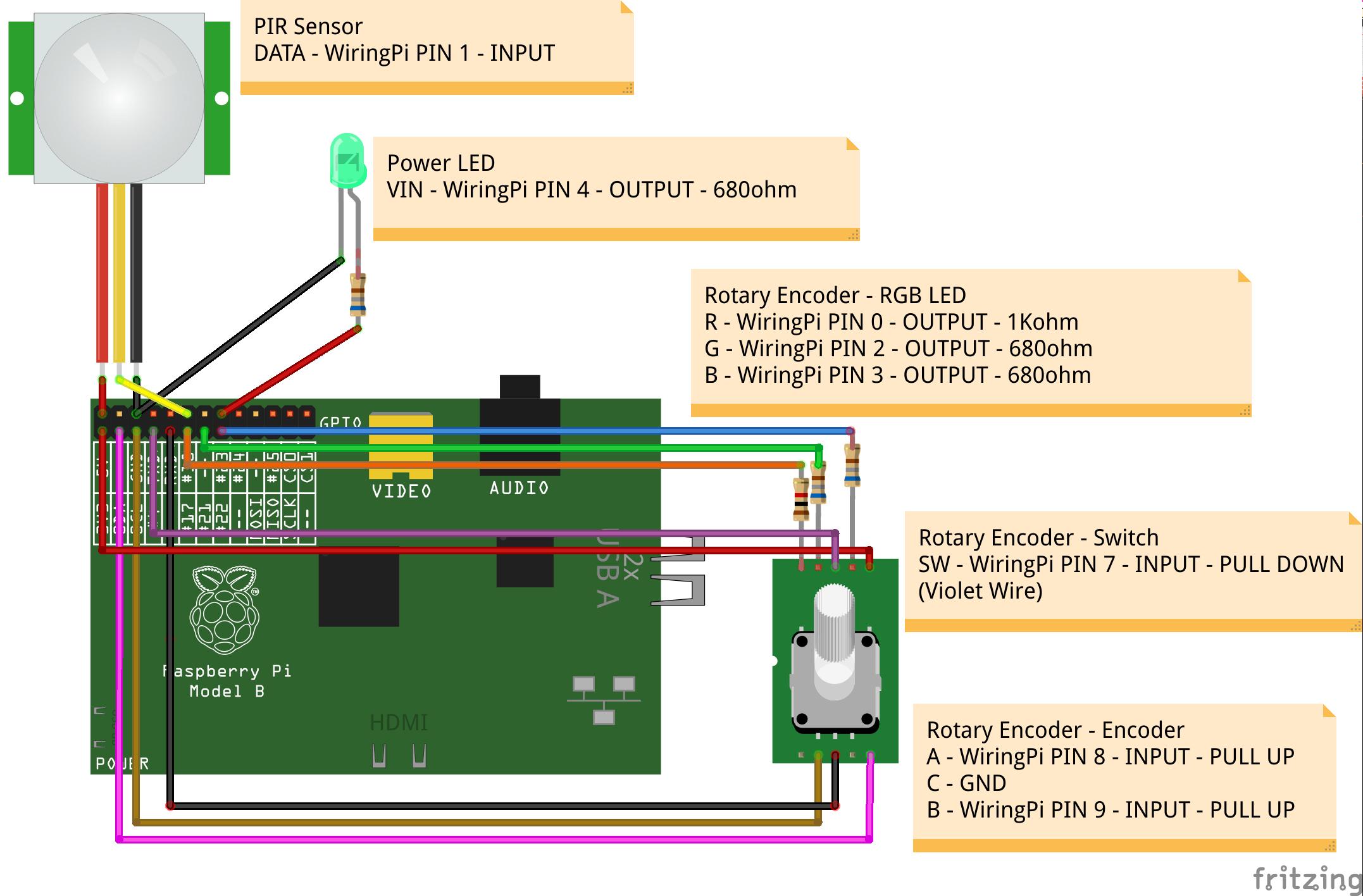 motion sensor webradio hackster io rh hackster io Rotary Encoder Arduino Rotary Encoder Circuit