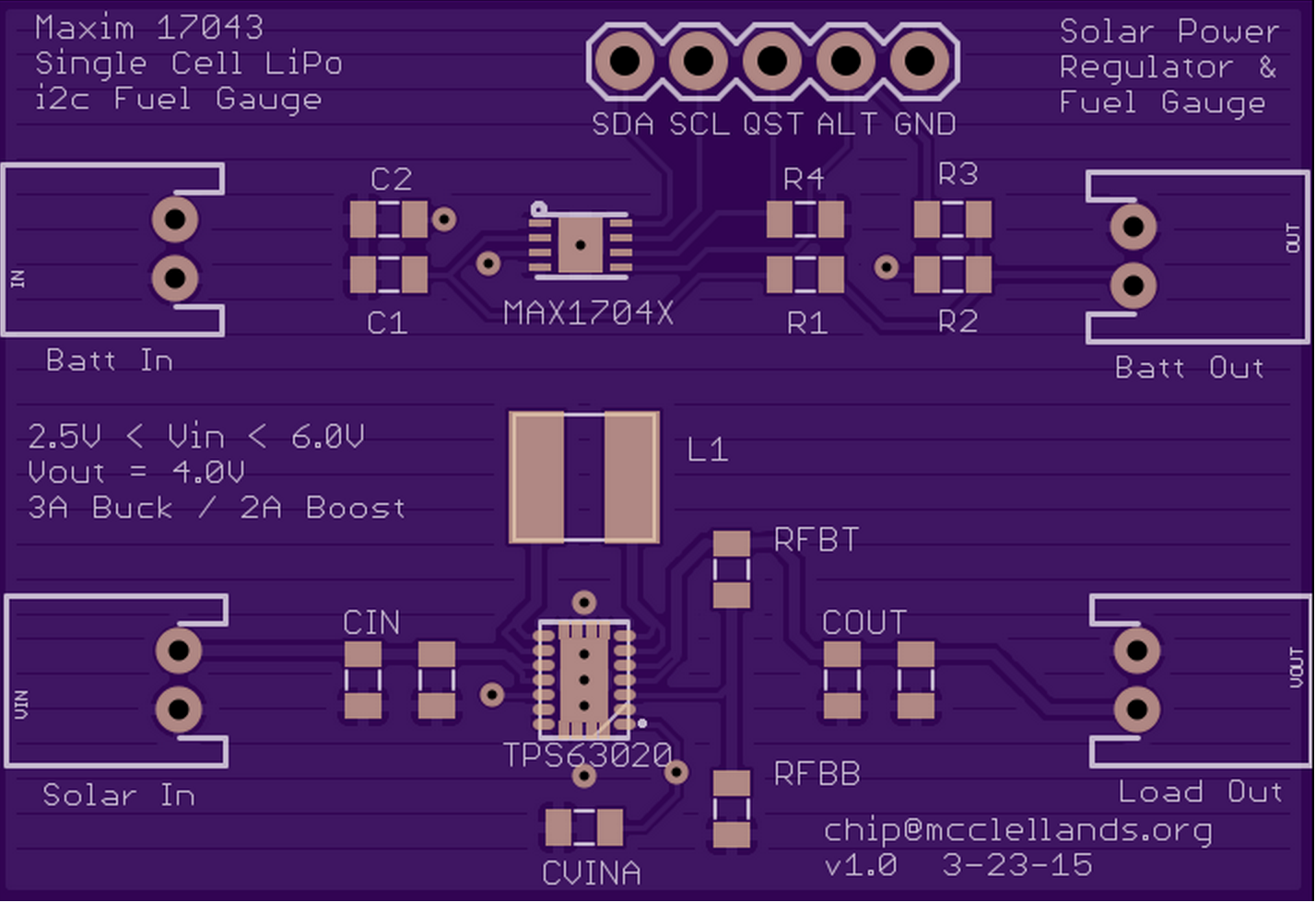 Solar Power Manager With Battery Fuel Gauge Gas Schematic Board Layout