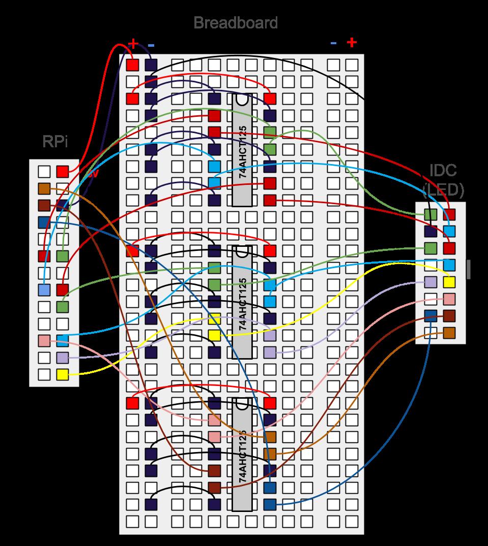 Twitter Led Board Schematic For The Ledmatrix Showing 4x5 Matrix Schematics