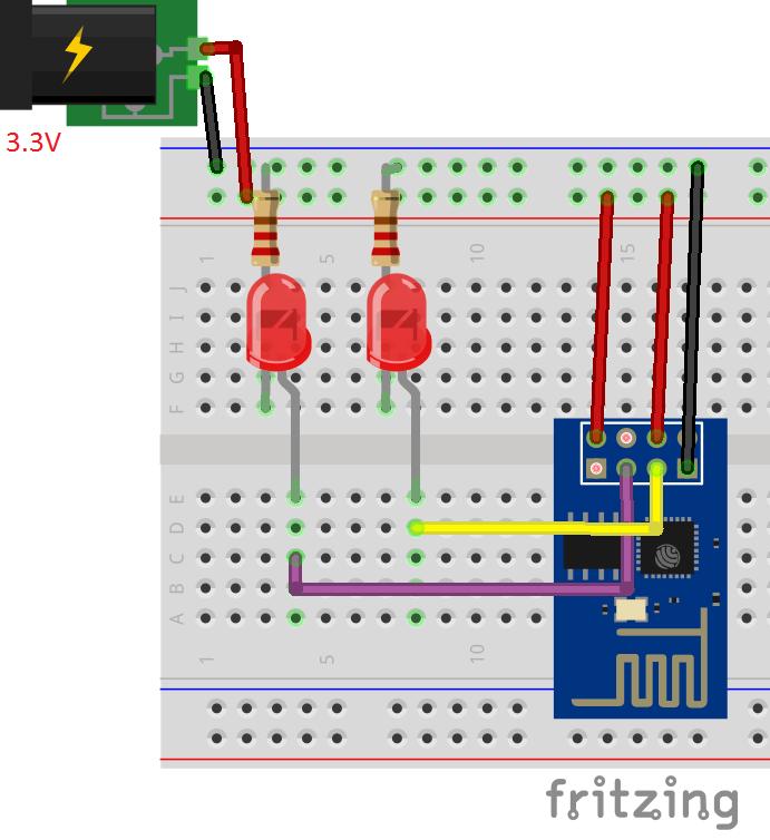 Esp8266 web server schematics