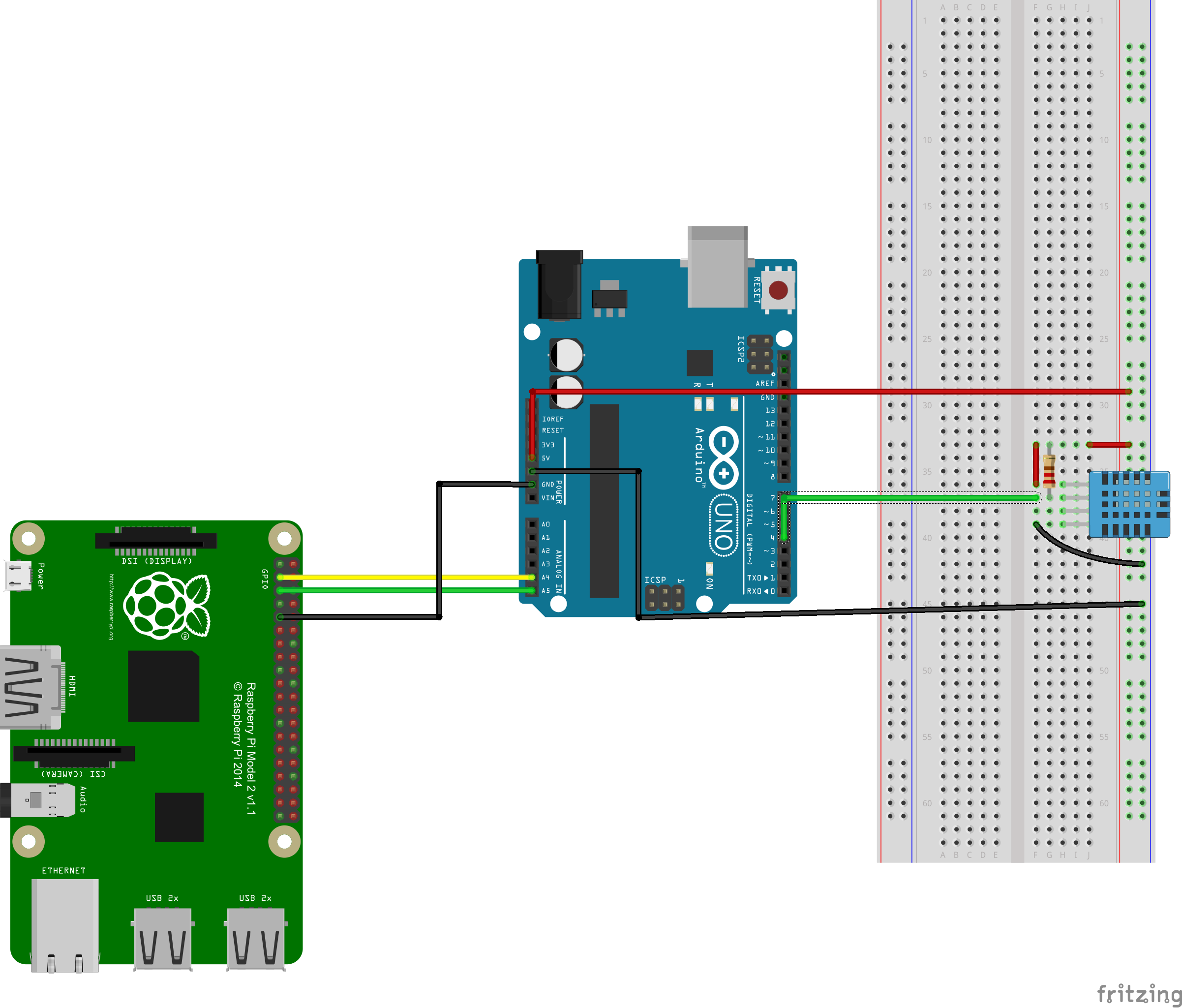 Arduino I2C communication with Raspi 2 WIOT - Hackster.io