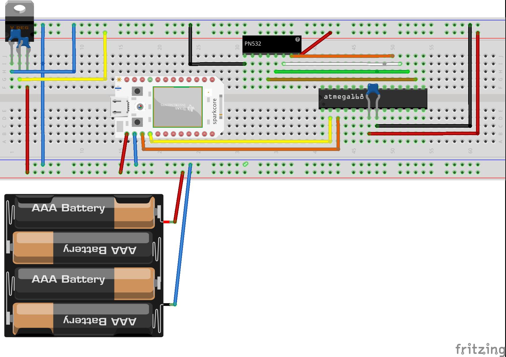 Pn532 sparkcore bb