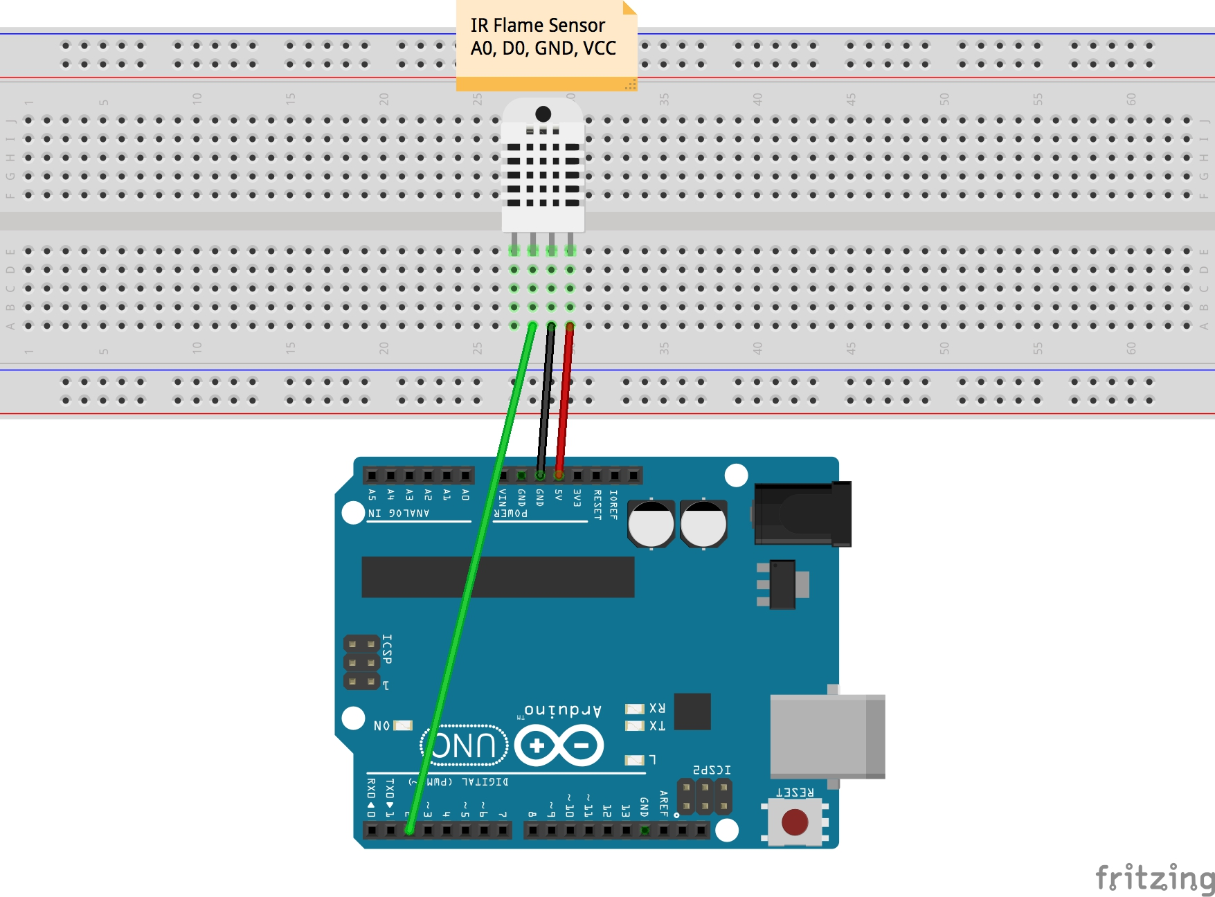 First iot sensors connect arduino