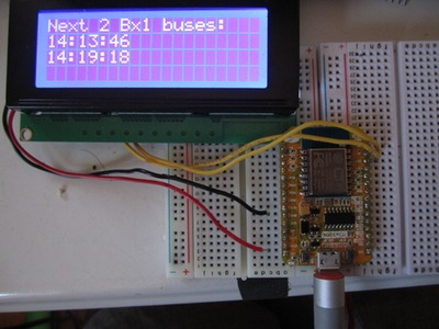 NodeMCU ESP8266 Wifi gets busTime data from MTA - Hackster io