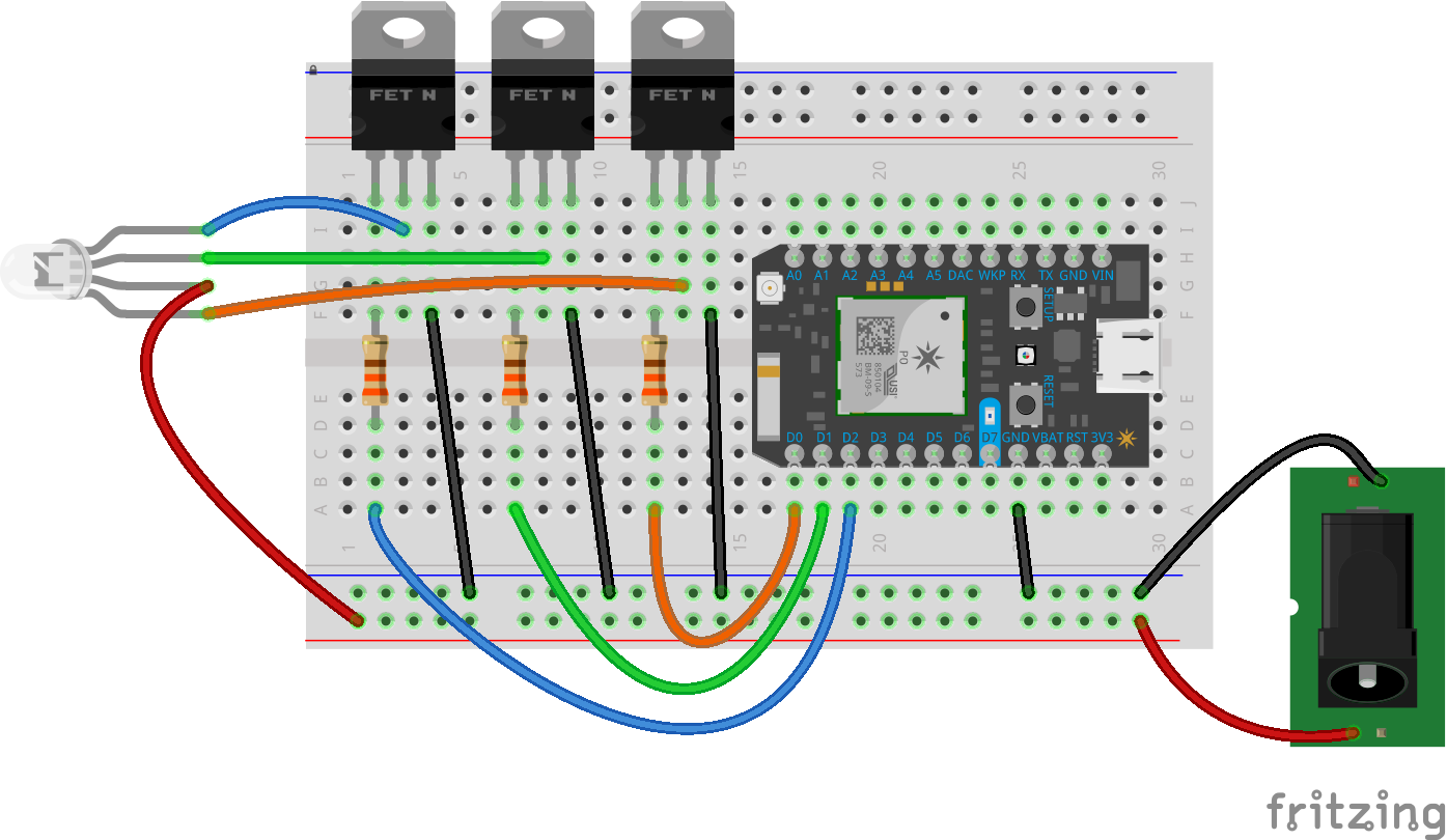 Low Cost Home Automation With Voice Control Wiring Diagram For Rgb Led Strip Lights As Well Rgb20strip
