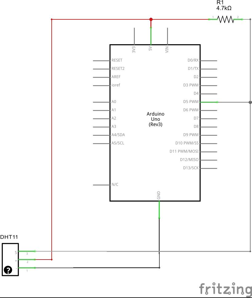 Dht11 arduino schem