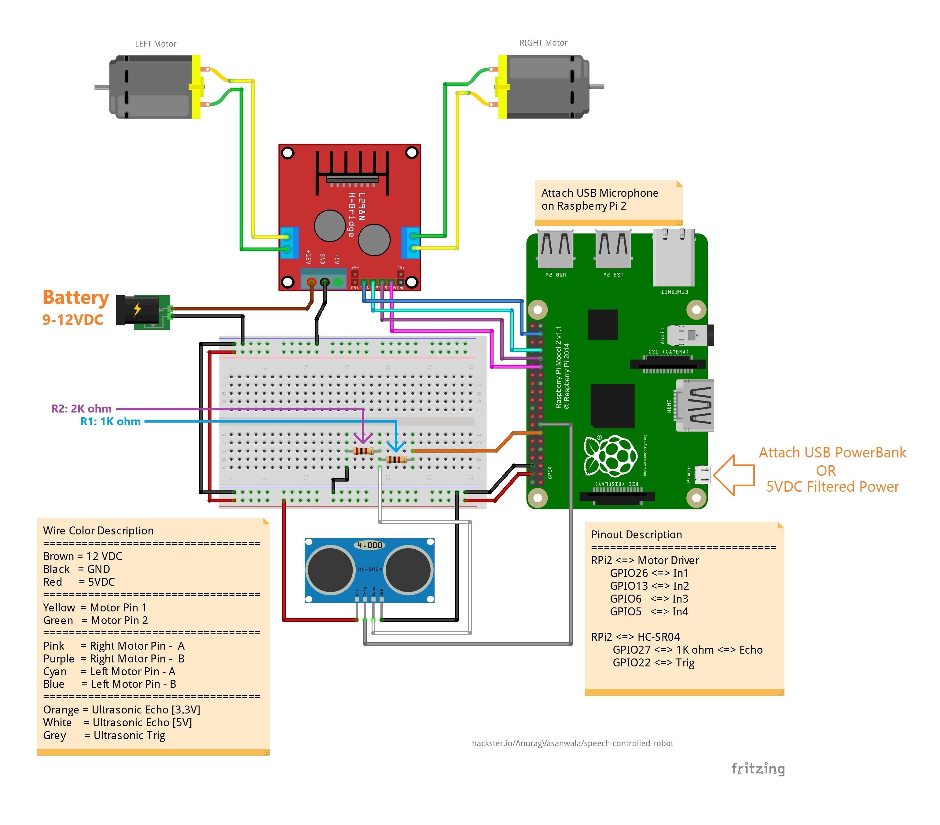 windows 10 iot core speech controlled robot hacksterio