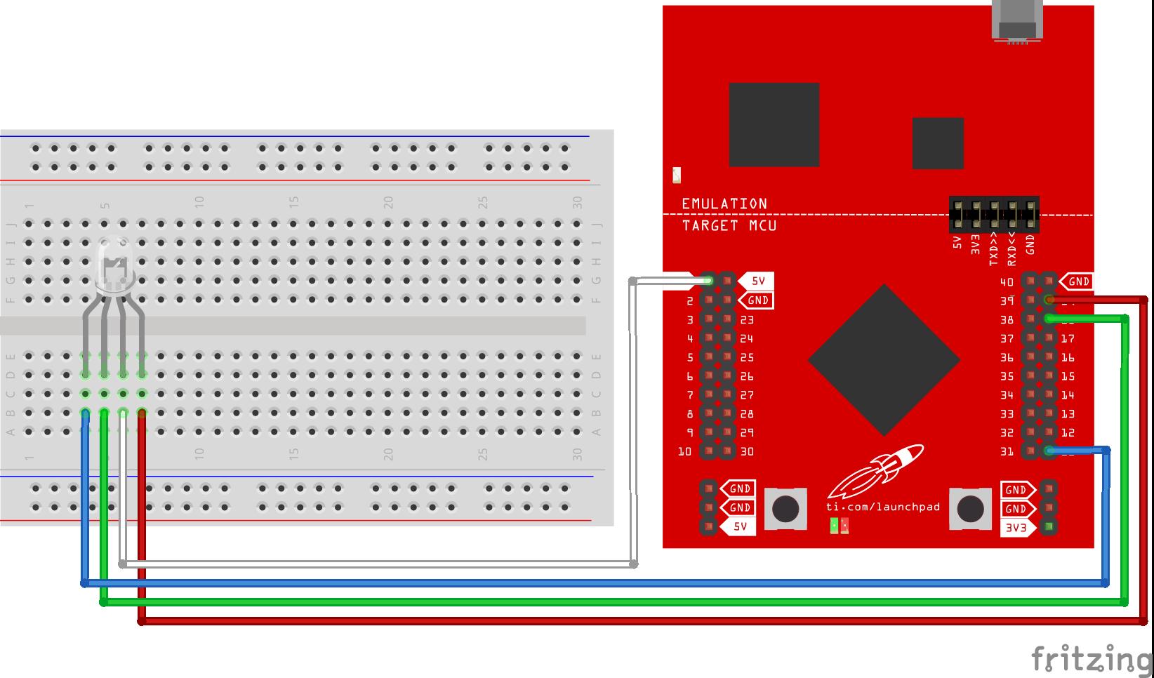 Fade RGB LED w/ TI Lanchpad - Hackster io